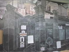 I love the chalk wall from Tom's bedroom in the movie 500 days of Summer. Great for my future design studio.