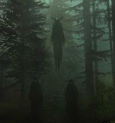 ancestors Imagen de dark, forest, and horror Dark Green Aesthetic, Witch Aesthetic, Arte Horror, Horror Art, Gothic Horror, Dark Fantasy Art, Arte Cyberpunk, Arte Obscura, Slytherin Aesthetic