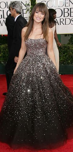 One of my favorite red carpet dresses EVER. Olivia Wilde in Marchesa... pageant wear