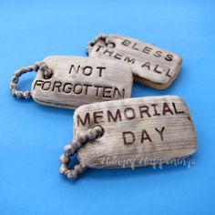Personalize Dog Tag COOKIES in Honor of Memorial Day by Hungry Happenings