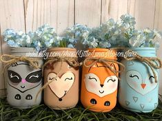 The perfect centerpiece for that woodland themed baby shower. This listing is for all 4 pint sized mason jars. The animals for this listing are a deer… – Baby Shower Baby Shower Decorations For Boys, Boy Baby Shower Themes, Baby Shower Centerpieces, Animal Theme Baby Shower, Shower Bebe, Baby Boy Shower, Baby Shower Gifts, Fox Baby Showers, Juegos Baby Shower Niño