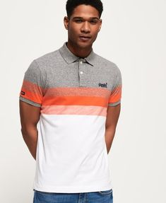 Polo Classic Longbeach - Taille : S Polo Shirt Style, Polo Shirt Outfits, Polo Shirt Design, Polo Shirt White, Superdry Fashion, Superdry Mens, Sweat Shirt, Casual T Shirts, Men Casual