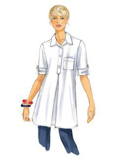 Tunic Sewing Patterns, Dress Making Patterns, Tunic Pattern, Vogue Patterns, Clothing Patterns, Sewing Clothes, Diy Clothes, Patron Butterick, Patron Vintage