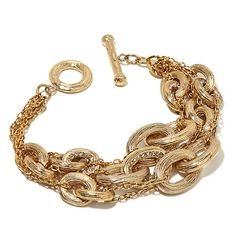 This multi-strand, goldtone bracelet is great in a stack or all by itself! How would you wear it?