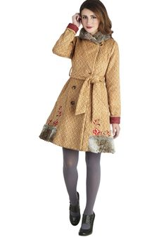 Traveler's Treasure Coat.  Love it.  Makes me want to go through the woods to Grandma's House.