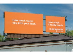 Denver Water campaign 2011. Use only what you need.  Agency: Sukle Advertising & Design.  Water conservation. #water #denver #waste
