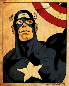 Very cool vintage print!!! Captain America