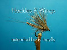 Fly Tying Extended Body Mayfly