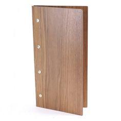 Real Wood Menu Covers - Wooden Restaurant Menus - Smart Hospitality Supplies - Menu Holder - Real Wood Menu Holder