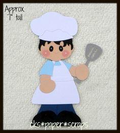 Chef Cook BOY KID Scrapbook Paper Piecing