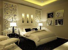 White And Black Romantic Bedroom