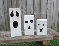 DIY Ghosts made from 4 x 4 Scrap Timber -