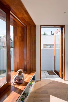Recessed window creates internal and external seating in Dublin extension House Window Design, House Design, Big Windows, Windows And Doors, Dublin House, Interior Architecture, Interior Design, House Extensions, House Layouts