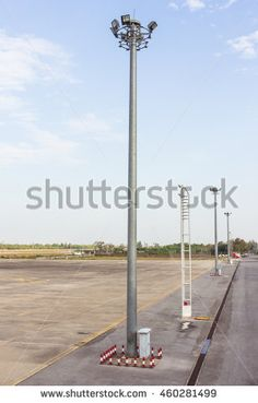 Airport light post in the afternoon, Thailand
