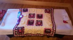 Crocheted Owl Blanket  Made to Order by TheCrochetAnything on Etsy