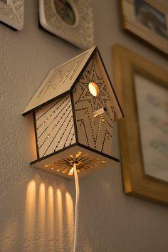Laser Cut Starburst Birdhouse Night Light by LightingBySara