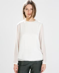 Image 2 of LONG-SLEEVED TOP from Zara