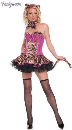Deluxe Sequins Leopard Costume