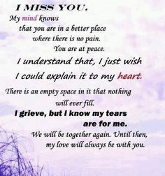 Missing loved ones that have gone too soon from us