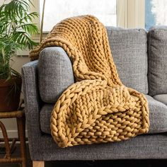 Your Lifestyle by Donna Sharp Chunky Knit Throw - Overstock - 21529411 Vogue Knitting, Arm Knitting, Knitting Patterns, Knitted Blankets, Merino Wool Blanket, Throw Blankets, Throw Pillows, Joss And Main, Chunky Knit Throw Blanket