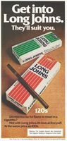 Long Johns 120s Menthol 1976 Ad Picture