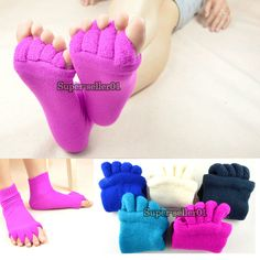 1 Pair Yoga GYM Massage Five Toe Separator Socks Foot Alignment Pain Relief Take Care Of Your Body, Move Your Body, Toe Exercises, Yoga For You, Hammer Toe, Yoga Moves, Yoga Gym, Foot Pain, Feet Care