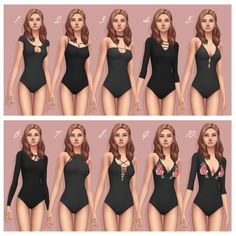 """smubuh: """" ♡ Bodysuits by Smubuh - Part 1 ♡ So obviously I have been working on bodysuits a lot recently! I thought that making a larger post with all of the downloads might be helpful for some. Also all of the files for these bodysuits have been..."""