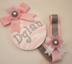 Girls Personalized HAIR BOW HOLDERS by candicenkatiesart on Etsy https://www.etsy.com/listing/87221983/girls-personalized-hair-bow-holders