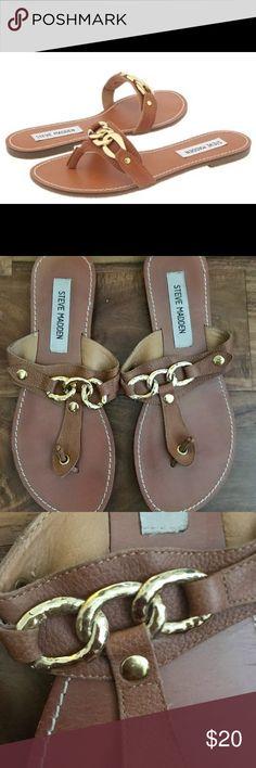 f644ea5b777 Steve Madden Cognac Sannibel Thong Sandal Sz 7.5 Steve Madden Sannibel  thong sandal in a cognac