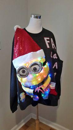 Ugly Christmas Sweater Minion Tangled in by UglySweatersForU