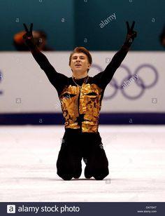 Download this stock image: Winter Olympics - Salt Lake City 2002 - Figure Skating - Men