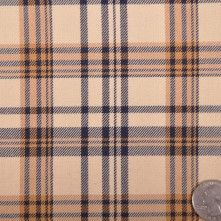 Marc Jacobs Tan and Navy Plaid Wool Double Cloth