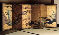 Gold und japanische Szenen