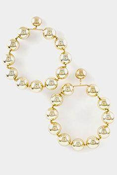 14k White Golden 7x7mm Crystal Pearl Ball Drop Earrings Measures 27x7mm