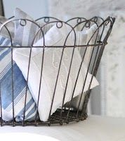 Vintage wire basket, love wire