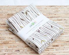 Eco-Friendly Large Cloth Napkins - Set of 4 - (206)