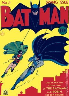 A fantastic Batman poster! The Caped Crusader and Robin swing into action on the cover of issue by Bob Kane. Check out the rest of our excellent selection of Batman posters! Need Poster Mounts. Dc Comics, Batman Comics, Posters Batman, Batman Comic Books, Comic Book Superheroes, Comic Books Art, Batman Batman, Batman Sign, Art Posters