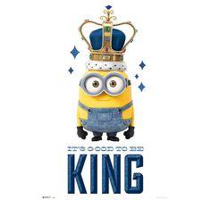 Minions Poster It's good to be King (Bob). Hier bei www.closeup.de