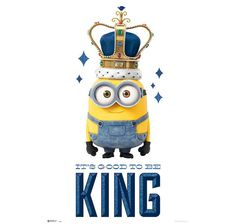 Minions Poster It's good to be King (Bob). Hier bei www.closeup.de