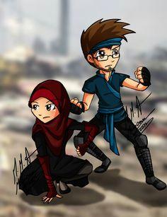 Muslim anime #love Cute Couple Art, Anime Love Couple, Couple Cartoon, Cute Muslim Couples, Cute Couples, Polo Lacoste, Islamic Cartoon, Cute Cartoon Pictures, Anime Muslim