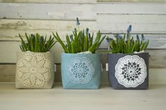 Refashion, Repurposed, Upcycle, Planter Pots, Succulents, Recycling, Craft Ideas, Diy Crafts, Sewing