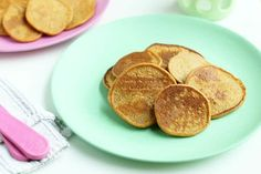 Whole Grain Sweet Potato Pancakes Loaded with veggies and whole grains, these healthy Sweet Potato Pancakes are a nutritious and yummy way to start the day with your family. Baby Pancakes, Sweet Potato Pancakes, Baby Food Recipes, Gourmet Recipes, Snack Recipes, Pancake Recipes, Snacks, Toddler Meals, Kids Meals