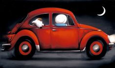 October sees the release of the latest limited edition collection by leading artist Doug Hyde. Volkswagen, Good Night Moon, Night Time, Beautiful Moon, Perfect World, Love Bugs, Woman Painting, Hyde, Cute Art