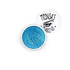 Medusa's Makeup Eye Dust - New Wave. Shimmery turquoise with slight green iridescence undertones. Vegan. Medium Intensity. Medusa's Make-Up Eye Dust is truly an amazing mineral eye shadow in the form of fine loose powder, think powdered sugar. This all natural mineral eye dust is by far the best in the industry. It glides on the skin like silk and wears well all day long. Each color carries it's own characteristics, some shimmer, sparkle, some have iridescence and many are highly…