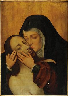 A Lamentation by an unknown artist, 17th/18th century.