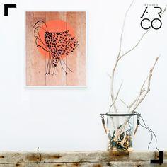 Quadro passáros - Design: Pomelo - Studio Ar.Co - #frame #quadro #decoração #decor #inspiration #inspiracao #design