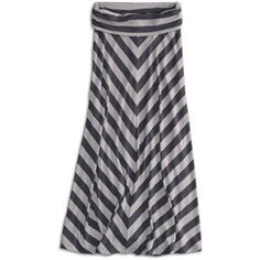 77kids 77 Chevron Striped Maxi Skirt - American Eagle Outfit... - Polyvore
