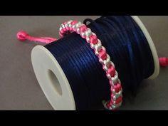 DIY. Pulsera enroscada de Kumihimo de dos colores - YouTube