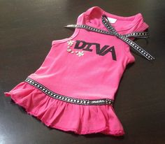 "Custom made ""Diva"" dog dress by Fetch Dog Fashions $34.99 www.fetchdogfashions.com #puppy #dog #dogclothing #dogapparel #dogboutique #dogcouture #petboutique #dogdress #custommade #designer #cute #cutedog"