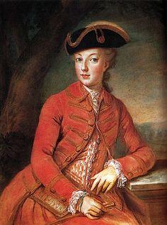 Marie Antoinette in her riding habit.